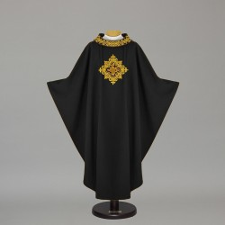 Gothic Chasuble 4989 - Black  - 1