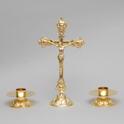 Cross and Candle holders,...