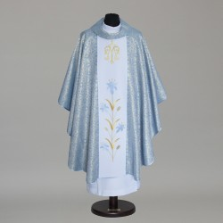 Marian Gothic Chasuble 5807 - Blue  - 1