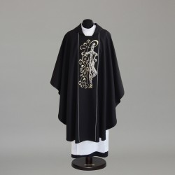 Gothic Chasuble 5817 - Black  - 1