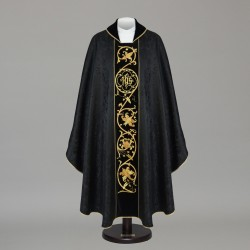 Gothic Chasuble 6057 - Black  - 1