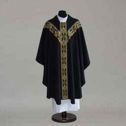 Gothic Chasuble 6151- Black  - 1