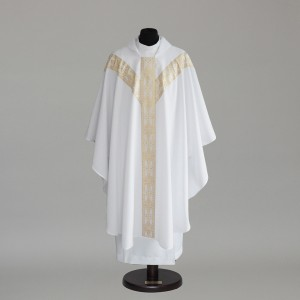 Gothic Chasuble 6152- White  - 1