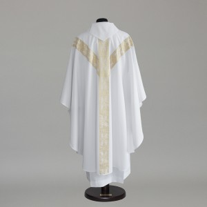 Gothic Chasuble 6152- White  - 2
