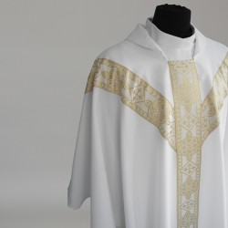 Gothic Chasuble 6152- White  - 3