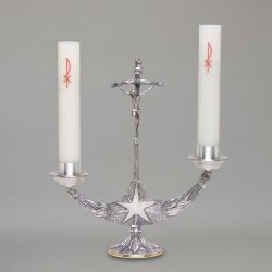 Candle holder with crucifix...