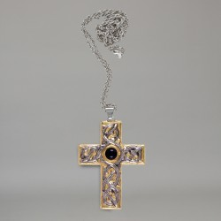 Pectoral cross with silver chain 5838  - 1