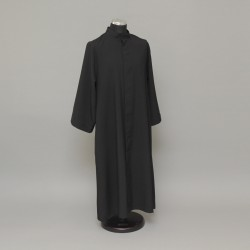 Black altar server cassock, over 5ft 6198  - 1