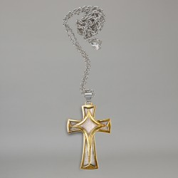 Pectoral cross with silver chain 5845  - 1