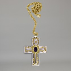 Pectoral cross with gold...