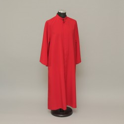 Red altar server cassock, up to 5ft 0282  - 1