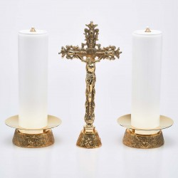 Crucifix and Candle Holders...