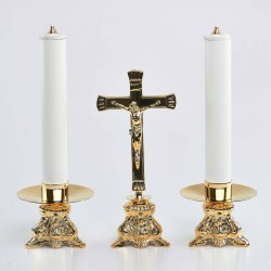 Cross and Candle holders with Oil candles, Set 6270