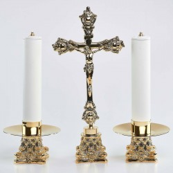 Cross and Candle holders...