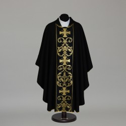 Gothic Chasuble 6304 - Black  - 2