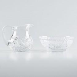 Crystal Lavabo Dish with Jug 6484  - 1