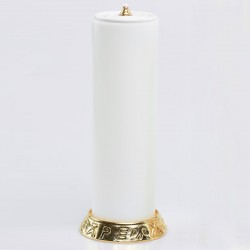 Candle holder with oil candle 6497