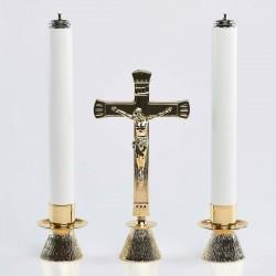 Crucifix and Candle holder...