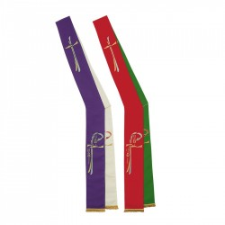 Reversible Deacon Stole 8151 - Red and Green
