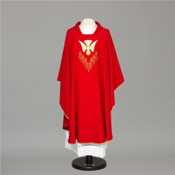 Gothic Chasuble 8388 - Red  - 4