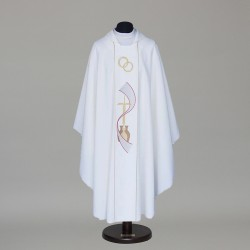 Gothic Chasuble 8534 - White  - 1