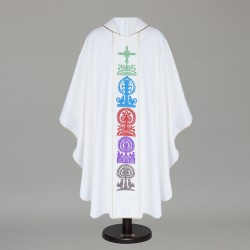 Gothic Chasuble 8744 - White