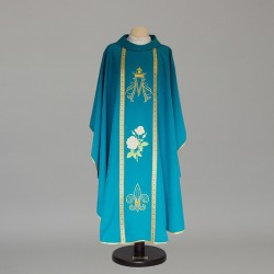 Marian Gothic Chasuble 9026 - Blue  - 3
