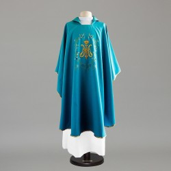 Marian Gothic Chasuble 9028 - Blue  - 3