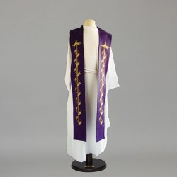 Gothic Stole 9100 - Purple  - 1