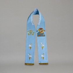 Marian Gothic Stole 9166 - Blue  - 1