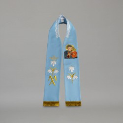 Marian Gothic Stole 9175 - Blue  - 1