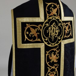 Roman Chasuble 9292 - Black  - 16