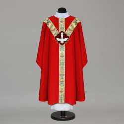 Gothic Chasuble 9680 - Red  - 2