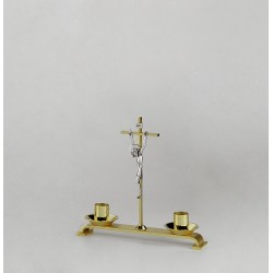 Crucifix with Candle Holders 10128