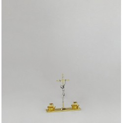 Crucifix with Candle Holders 10131