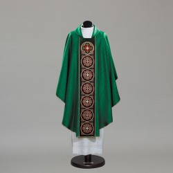 Gothic Chasuble 10338 - Green  - 1