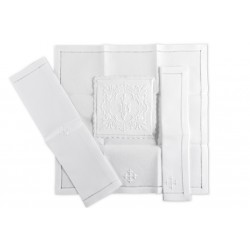 Hand Embroidered Altar Linen set 10368  - 1