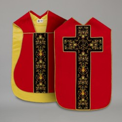 Roman Chasuble 10431 - Red  - 4