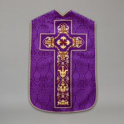 Roman Chasuble 10433 - Purple  - 1