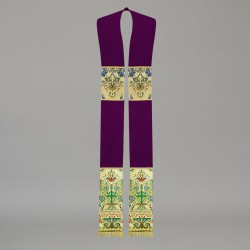 Gothic Stole 10569 - Purple  - 1