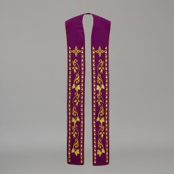 Gothic Stole 10575 - Purple  - 3