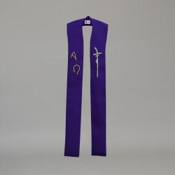 Gothic Stole 10598 - Purple  - 2