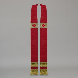 Gothic Stole 10607 - Red