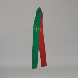 Reversible Gothic Stole 10709 - Green and Red  - 1