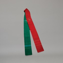 Reversible Gothic Stole 10715 - Green and Red  - 2