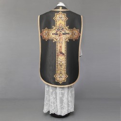Printed Roman Chasuble 4550 - Black  - 1