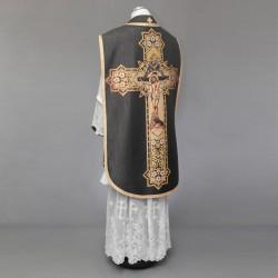 Printed Roman Chasuble 4550 - Black  - 3