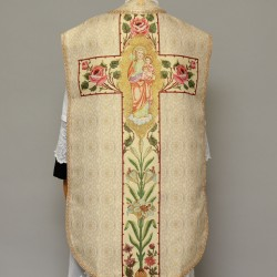 Printed Roman Chasuble 4556 - Cream  - 1