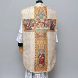 Printed Roman Chasuble 4299 - Cream  - 1
