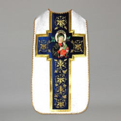 Marian Roman Chasuble 10944 - Cream  - 1